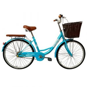 Bicicleta Vintage Campera Celeste