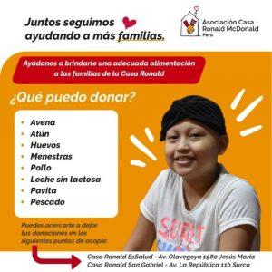 Juntos Seguimos Ayudamos a Más Familias Asociación Casa Ronald McDonald Perú
