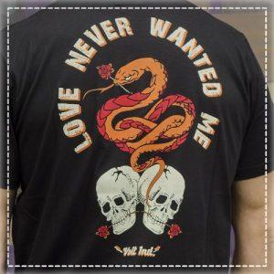 Tshirt Love Never Black Volt Industries 001